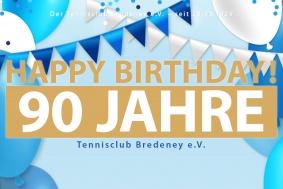 Am 28.03.2019 feiert der TCB sein 90-jähriges Jubiläum